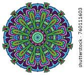 round mandalas in vector.... | Shutterstock .eps vector #760111603