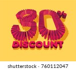 30  discount form by shopping... | Shutterstock .eps vector #760112047