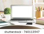 close up of creative designer... | Shutterstock . vector #760113547