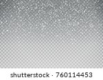 vector realistic isolated snow... | Shutterstock .eps vector #760114453