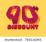 90  discount form by shopping... | Shutterstock .eps vector #760116343