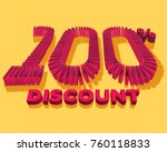 100  discount form by shopping... | Shutterstock .eps vector #760118833