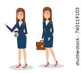 elegant business woman in... | Shutterstock .eps vector #760119103