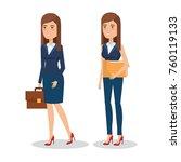elegant business woman in... | Shutterstock .eps vector #760119133