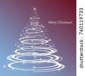 merry christmas   happy new... | Shutterstock .eps vector #760119733