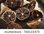cloves of black garlic    Shutterstock . vector #760122373