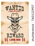 vintage wanted poster template... | Shutterstock .eps vector #760122907