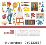 artist painting tools and