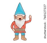 gnome with costume and gesture... | Shutterstock .eps vector #760127227