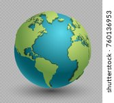 modern 3d world map concept... | Shutterstock .eps vector #760136953