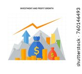 investment and profit growth... | Shutterstock .eps vector #760146493