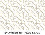 seamless linear pattern with... | Shutterstock .eps vector #760152733