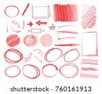 red marker elements ... | Shutterstock .eps vector #760161913