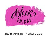 black friday sale poster for... | Shutterstock .eps vector #760163263