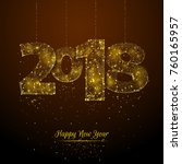 new year poster with 2018 low... | Shutterstock .eps vector #760165957