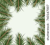 christmas ornament background... | Shutterstock .eps vector #760167007
