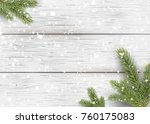 christmas white wooden... | Shutterstock .eps vector #760175083