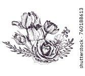 vintage vector floral... | Shutterstock .eps vector #760188613