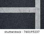 surface rough of asphalt  grey... | Shutterstock . vector #760195237