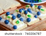 soft cheese cream  bananas and... | Shutterstock . vector #760206787