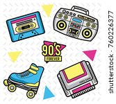 90s forever design | Shutterstock .eps vector #760226377