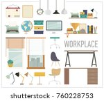 set of graphic tools for modern ...   Shutterstock .eps vector #760228753