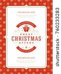 christmas sale flyer or poster... | Shutterstock .eps vector #760233283