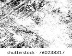 grunge black and white pattern. ... | Shutterstock . vector #760238317