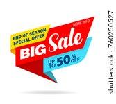 sale banner original design... | Shutterstock .eps vector #760250527