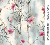 Stock photo grass seamless pattern watercolor hand painted background 760267243