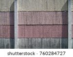painted wall of cement ... | Shutterstock . vector #760284727