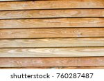 wooden slated background | Shutterstock . vector #760287487