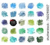 vector watercolor background.... | Shutterstock .eps vector #760290007
