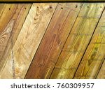 diagonal wood plank fence | Shutterstock . vector #760309957