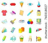 artisan icons set. cartoon set...   Shutterstock .eps vector #760318027