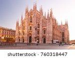 piazza del duomo  cathedral...   Shutterstock . vector #760318447