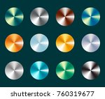 metallic silver and gold... | Shutterstock .eps vector #760319677