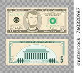 dollar banknotes  us currency... | Shutterstock .eps vector #760320967