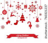 christmas greeting card with... | Shutterstock .eps vector #760321237