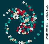 vector confetti background... | Shutterstock .eps vector #760325623