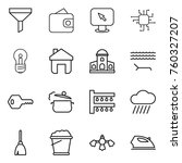 thin line icon set   funnel ... | Shutterstock .eps vector #760327207