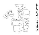 coffee set. roasting coffee... | Shutterstock .eps vector #760330777