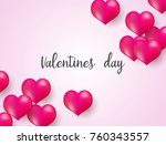 valentines day background with... | Shutterstock .eps vector #760343557
