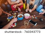 top view creative photo of...   Shutterstock . vector #760343773