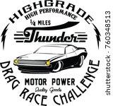 vector race car illustrations | Shutterstock .eps vector #760348513