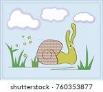 snail creeping through the... | Shutterstock .eps vector #760353877