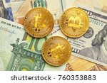 beautifully arranged bills 100... | Shutterstock . vector #760353883