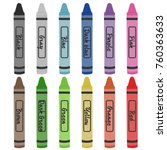 Crayon Colors Vector...