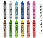 crayon colors vector