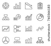 thin line icon set   target... | Shutterstock .eps vector #760366183